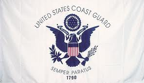 3' x 5' double sided Coast Guard Flag