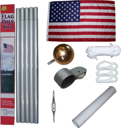 20' Aluminum Flagpole Kit
