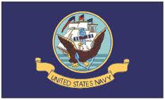 3' x 5' Double Sided U S Navy Flag