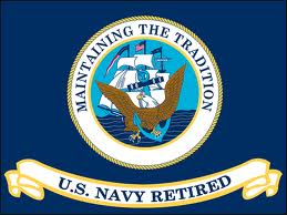 US Navy Retired Flag